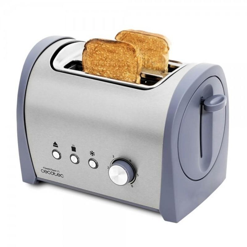 Cecotec Steel & Taste Stainless Steel Toaster 2S