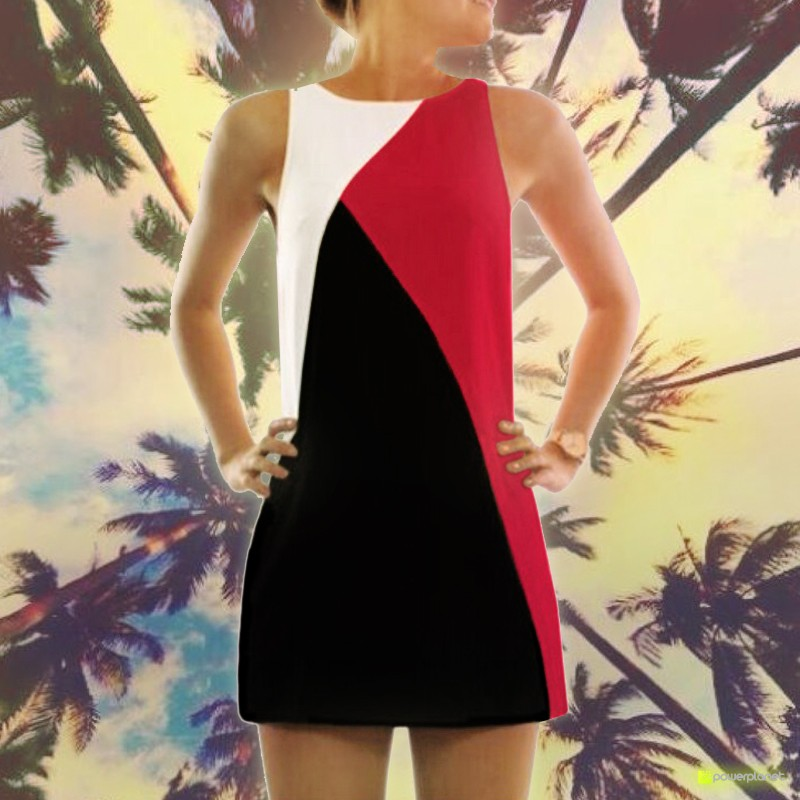 Vestido Tricolor Red Pasion - Mujer