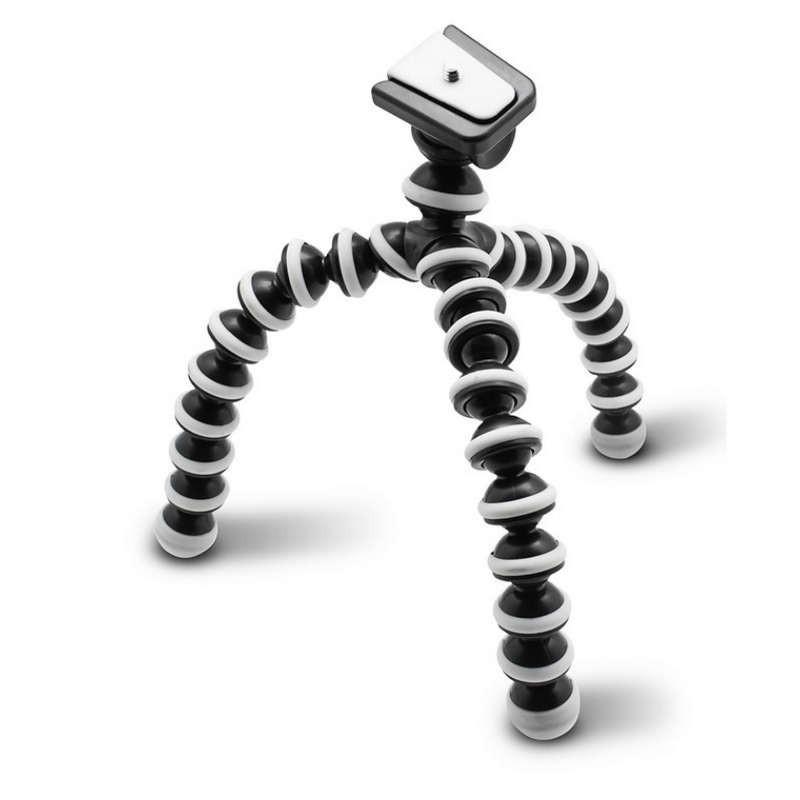 Trípode Gorilla M SM-812 - Accesorio para Cámara - Color negro - Mini Trípode Flexible - Todo tipo de Superficies - Enganche para Móvil - UNC 1/4 Pulgadas