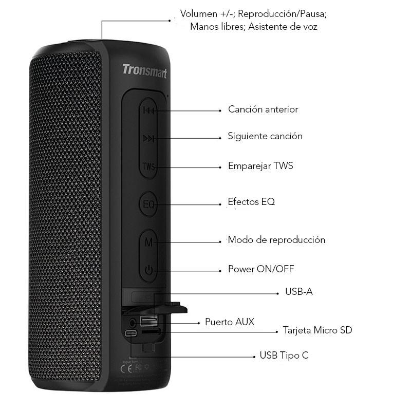 """Résultat de recherche d'images pour """"Element T6 Plus SoundPulse™ Portable Bluetooth Speaker"""""""