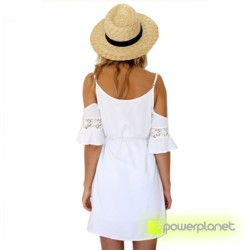 Vestido sin mangas veraniego Blanco - Mujer - Ítem1