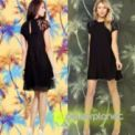 Black Casual Lace Dress