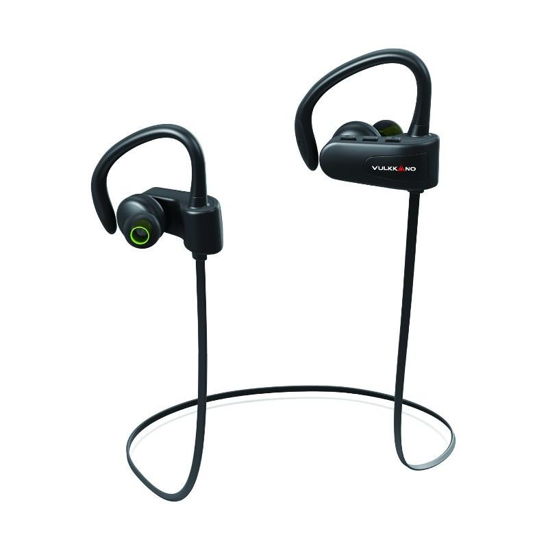 VULKKANO Active Negro - Auriculares Deportivos - Parte delantera