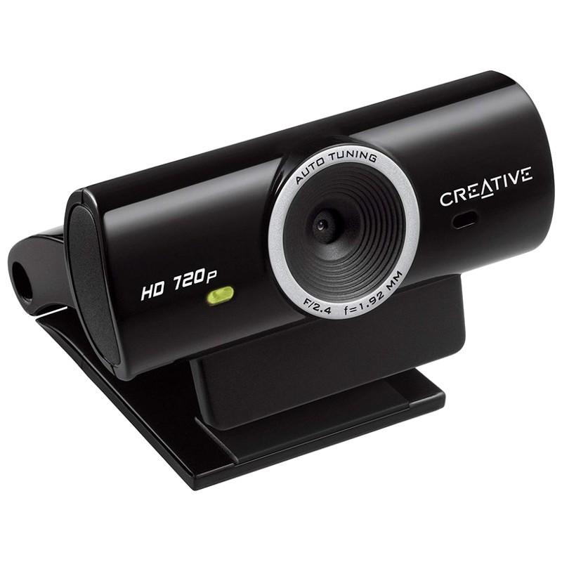 Webcam Creative Live! Cam Chat HD - Color negro - Descarga el software gratuito Live! Central 3 Lite software y podrás grabar vídeos en HD 720p, hacer fotos de 5,7MP y compartirlos con un sólo clic en los sitios web de las redes sociales más conocidas.