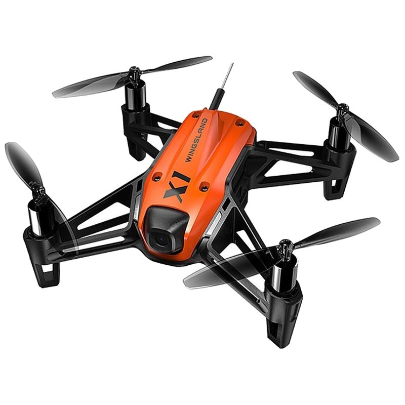 Wingsland X1 WiFi FPV Preto / Laranja - Mini Drone FPV