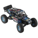 WLtoys 10428-2 1/10 4WD Crawler - Electric RC Car - Blue color (black background with many paint splatters)