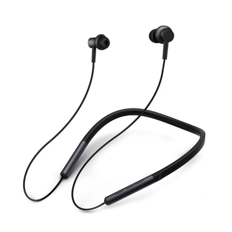 Xiaomi Mi Bluetooth Neckband - Auriculares Bluetooth - Color negro - Autonomía Máxima 8 Horas - Micrófono - Tecnología APT-X - Bluetooth 4.1 - Batería 137 mAh - Auriculares In-Ear con Collar - Laterales Imantados - Reducción de Ruido (Comunicación)