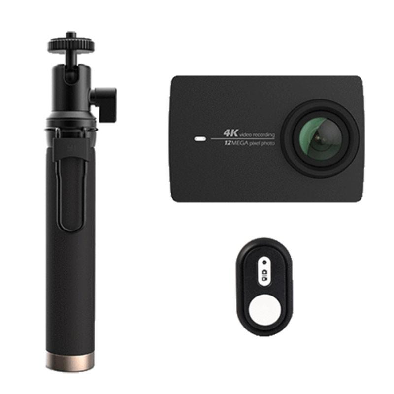 YI 4K Action Camera Preto + Selfie Stick